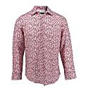 Nigel Linen Shirt In Ashton Floral Pink image