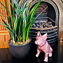French Bulldog Geometric Sculpture - Frank In Metallic Pale Pink image