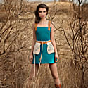 Leather Straps Mini Dress image