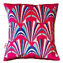 Fuchsia Shell Deco Velvet Cushion image