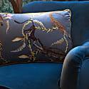 River Silver Yellow Velvet Cushion image