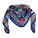 The Power Of Life Silk Premium Scarf Blue 120Cm*120Cm image