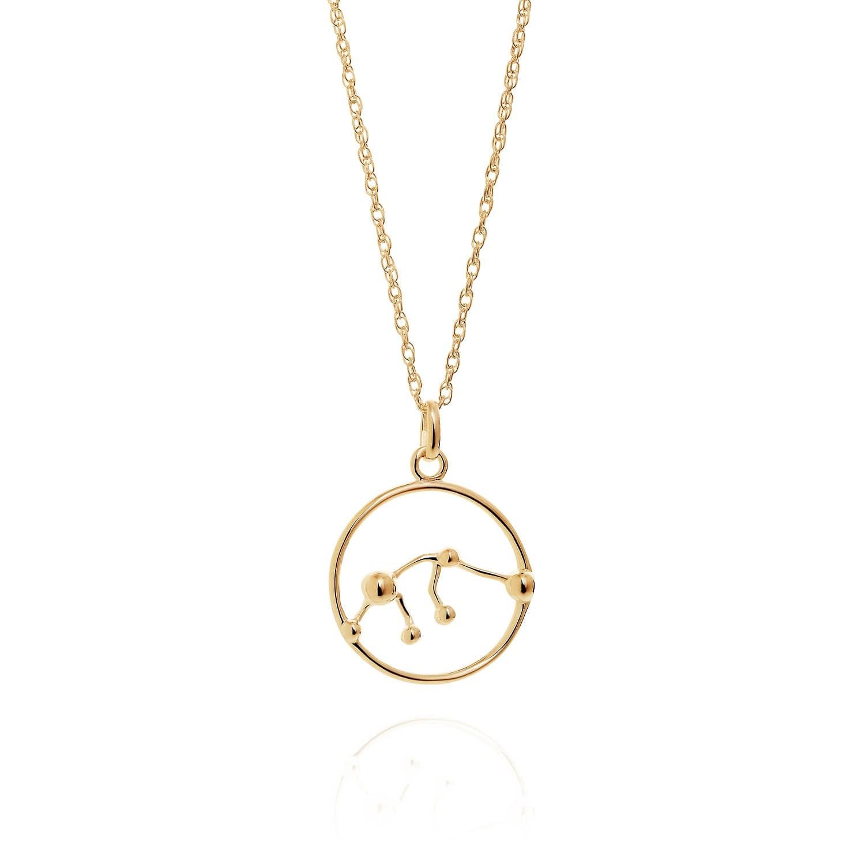Aquarius Astrology Necklace In 9ct Gold Yasmin Everley Jewellery