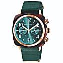 Briston Clubmaster Classic Chronograph Tortoise Shell Acetate, Emerald Green image