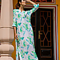 Lime Flower Line Maxi Dress image