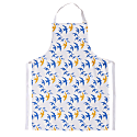 Flock Apron - Blue & Ochre Swallow Print On White image