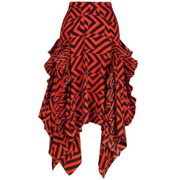 SIOBHAN MOLLOY Gracie Geometric Print Midi Skirt
