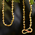 Knotted 18Ct Gold Beaded Chain image