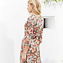 Rosemary Dress In Khaki & Rose Bloom image