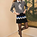 Chevron Embroidered Miniskirt image