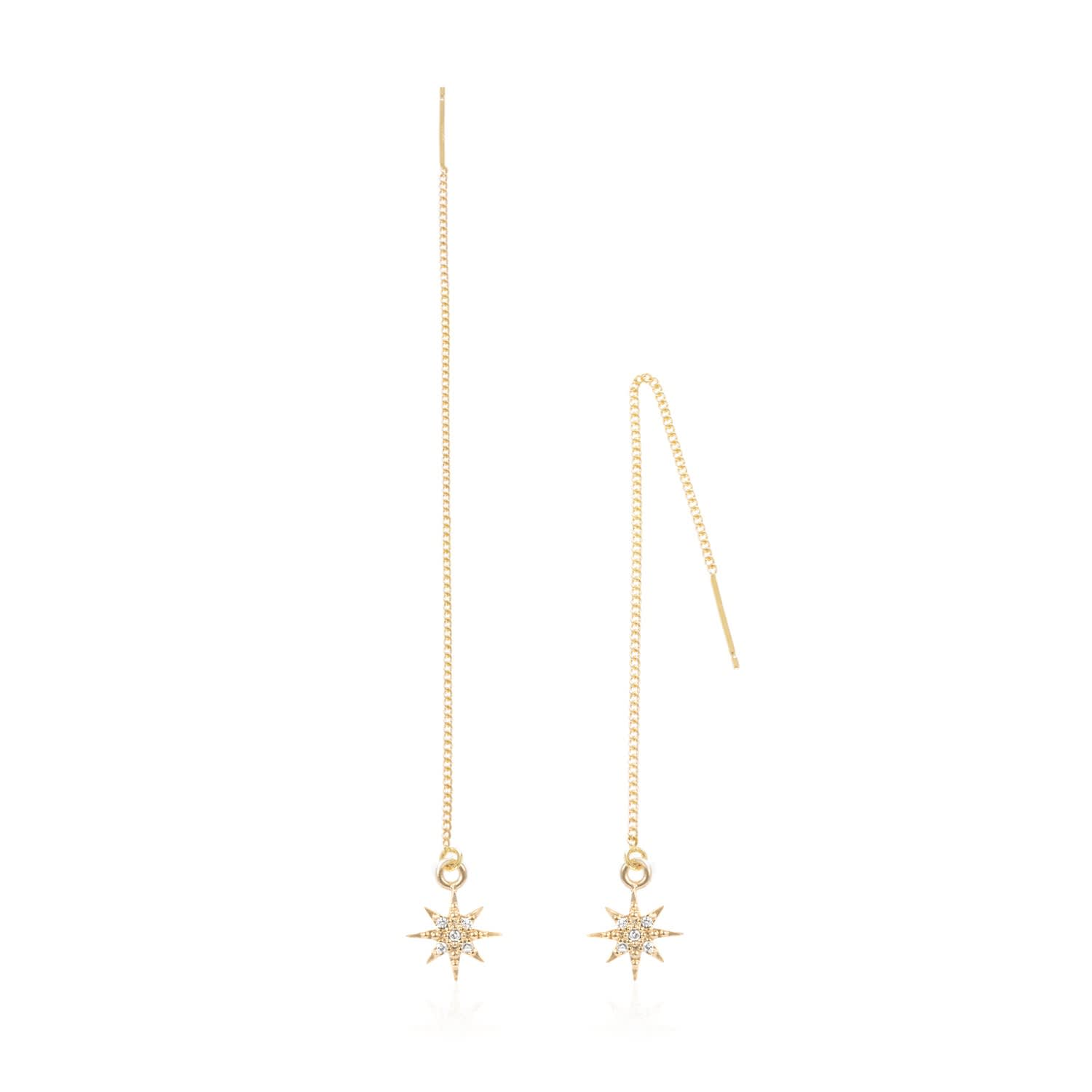 56e8e14098d8e Star Chain Earrings by C.J.M