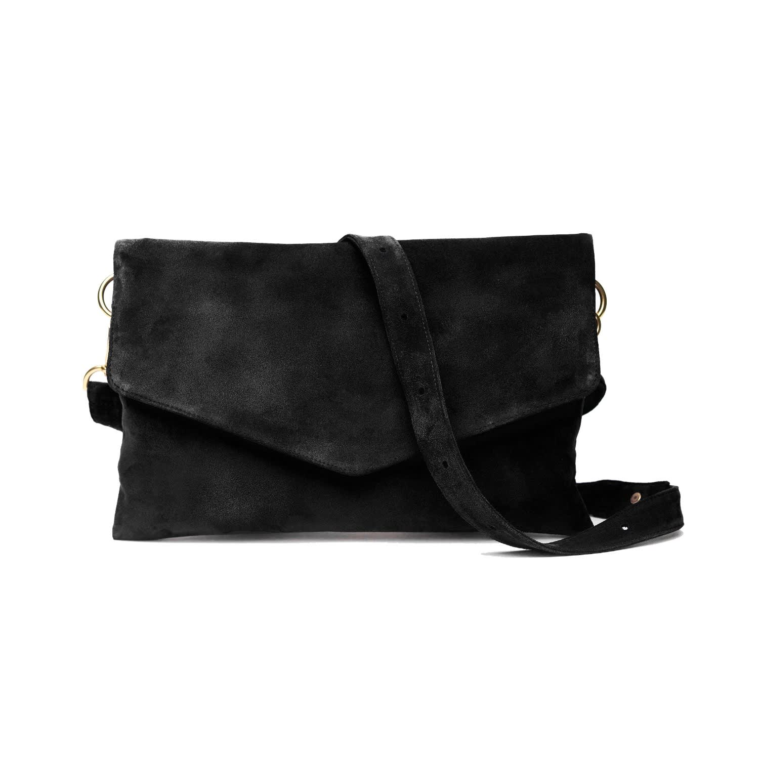 complete in specifications incredible prices provide large selection of Explorer Crossbody Clutch In Black Suede by Holly & Tanager