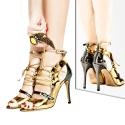 Aline Metal Lace & Ankle Strap Sandals image