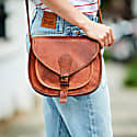 Vida Vintage Leather Saddle Bag Medium image