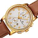 Bruno Magli Mens Dante 1002 Swiss Chronograph Quartz Italian Leather Strap Watch British Tan image