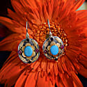 Ishana Turquoise Ruby Sapphire Earrings image