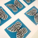 Butterfly Print in Slate Teal image