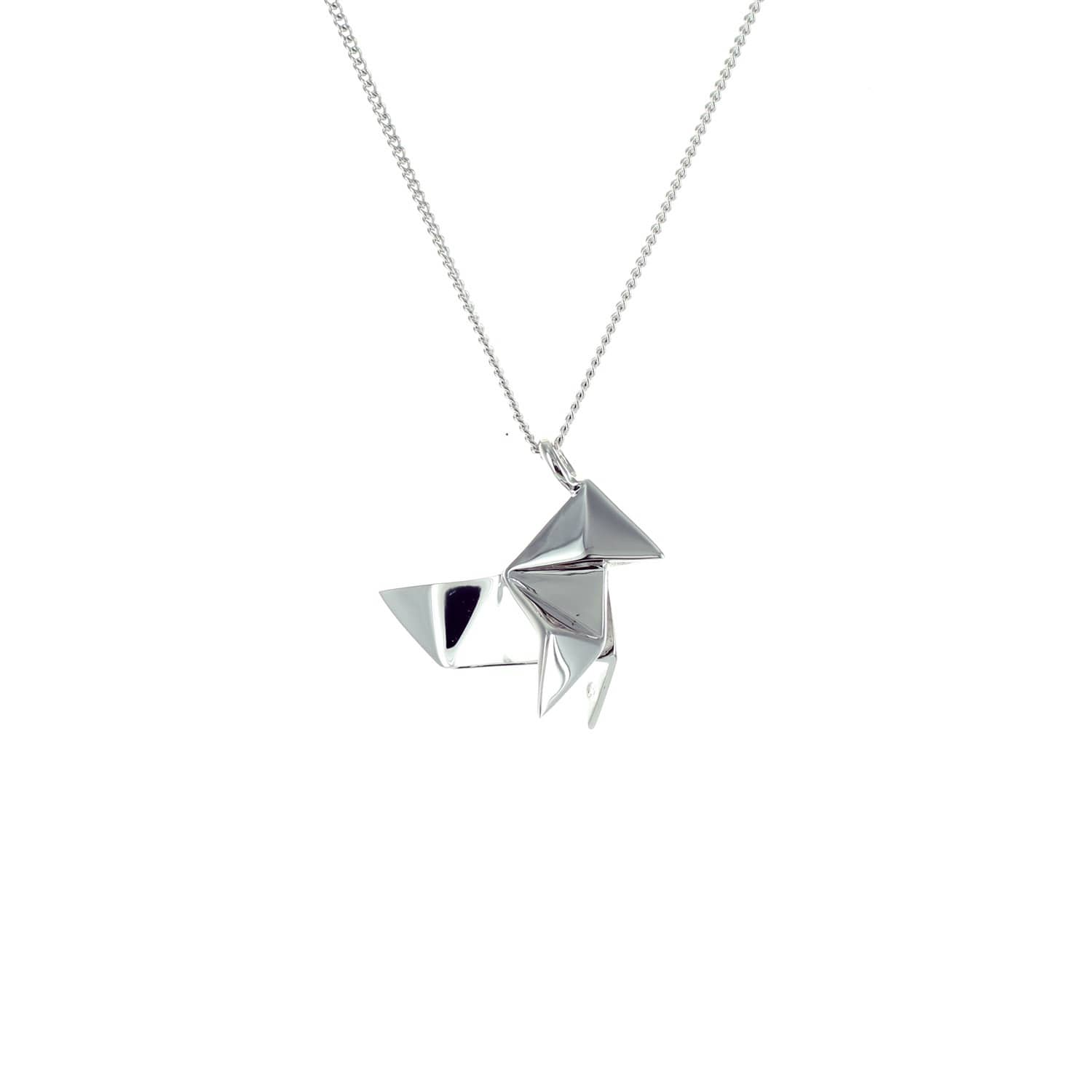 Origami Jewellery Sterling Silver & Gold Mini Cuckoo Origami Necklace