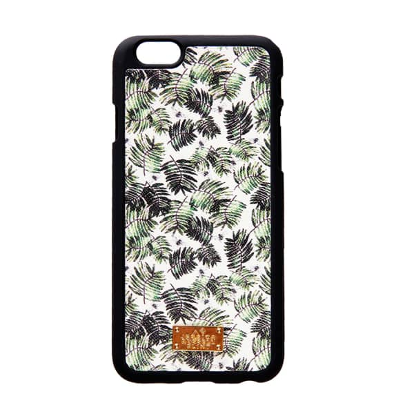 Leather Coated Iphone6 Case Palm & Dragonflies