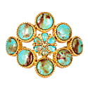 The Living Stone Cuff In Turquoise image