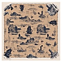 Large Scarf In Doomed Voyage Print Silk Cotton Blend image