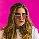 Amphitrite Cat Eye Sunglasses - Crystal & Pink image