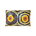Floral Silk Velvet Ikat Heritage Style Multicolour Cushion image