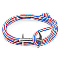 Project Rwb Red White & Blue Admiral Anchor Silver & Rope Bracelet image