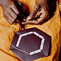 Talek Beaded Leather Trinket Tray image