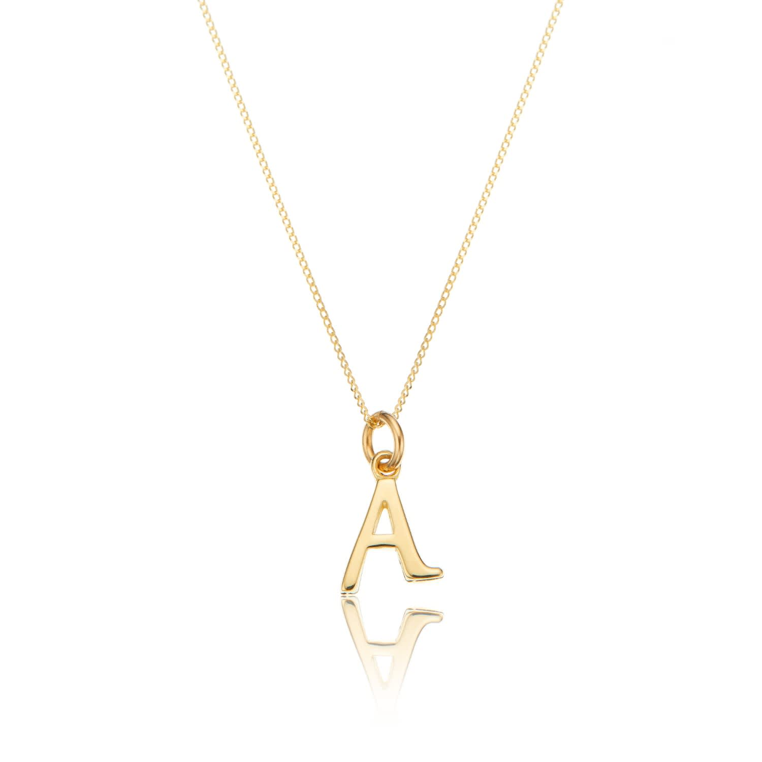 5ce47c6e5287b Small Solid Gold Initial Letter Necklace by Lily & Roo