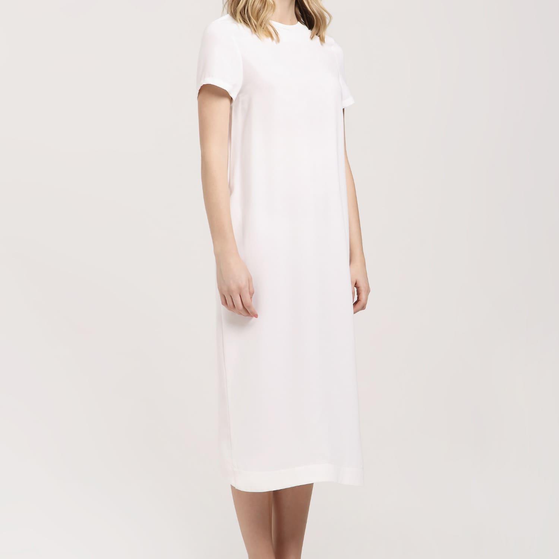Midi T-Shirt Dress White