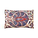 Babylon Juniper Suzani Ikat Double Sided Silk Heritage Design Cushion image
