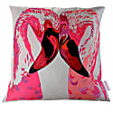 Magenta Flamingos Cushion image