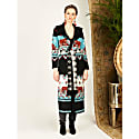 Tigress Knit Coat - Black White image