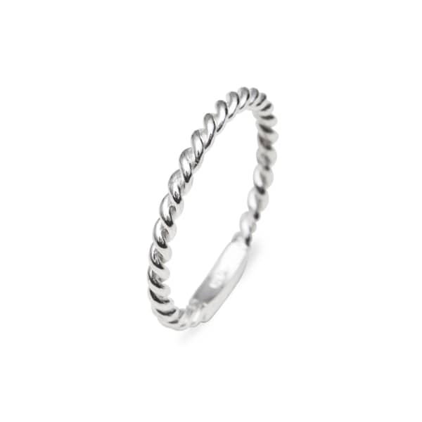 Extra Thin Twisted Ring