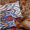 Artemis Navy Ikat Double Sided Heritage Design Cushion image