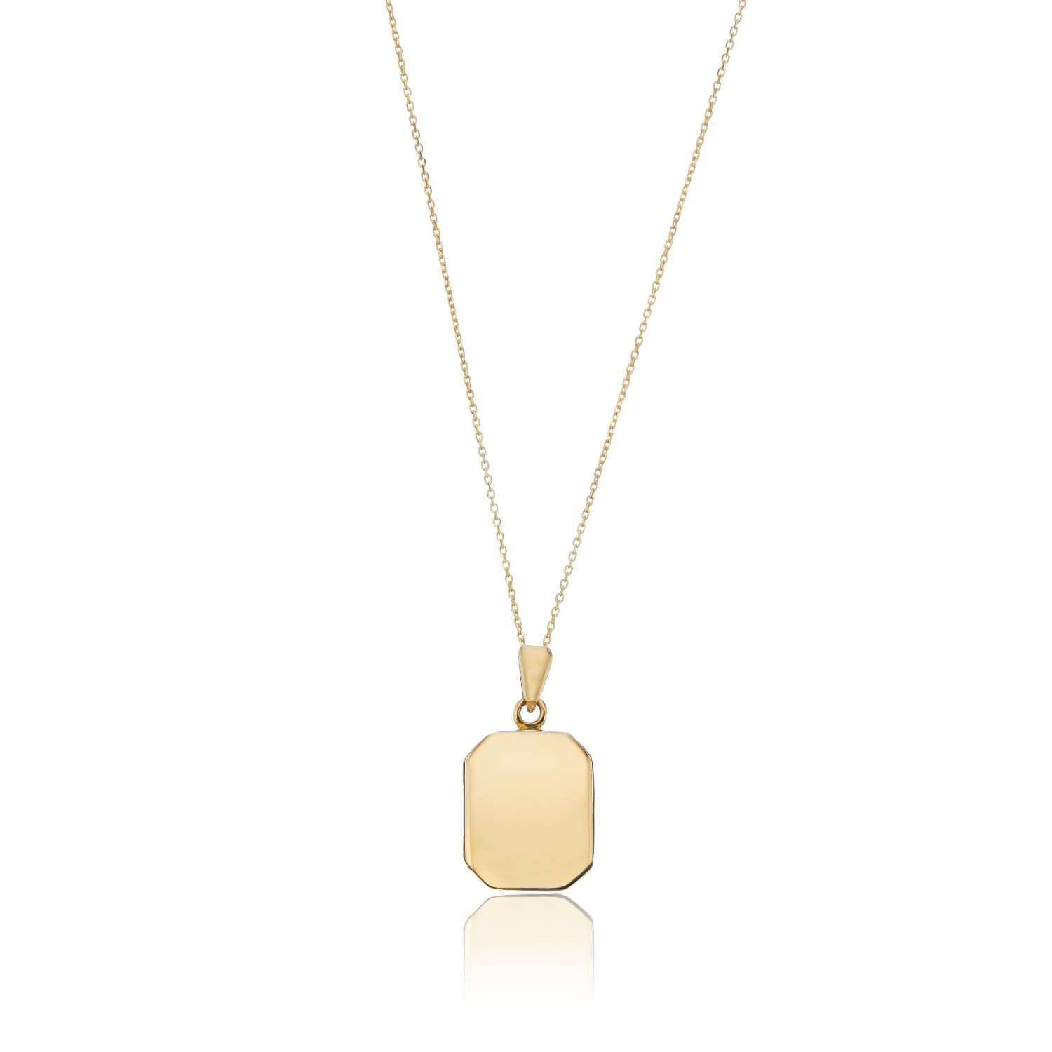 721ae4cc59a41 Gold Small Square Locket Necklace by Lily & Roo