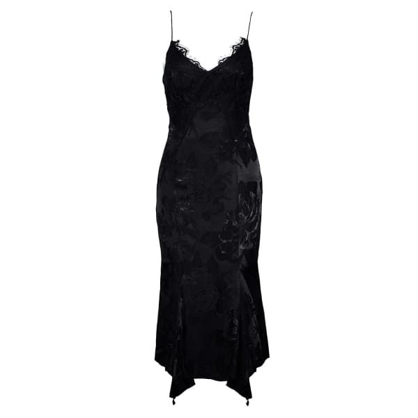 Nissa  Asymmetrical Viscose Slip Dress