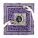 Metaphysic Foulard With Witch Print On Lilac Background image