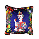 """""""The Mexican Woman"""" Velvet Cushion image"""