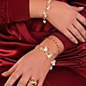Luna Amethyst Gold Chain Bracelet image