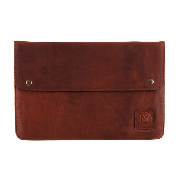 MAHI LEATHER Leather Oslo Macbook Laptop Case/Sleeve in Vintage Brown