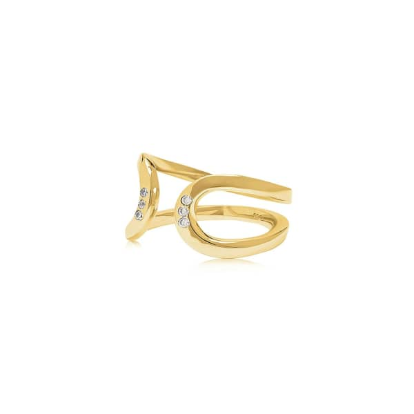 EDGE OF EMBER Arc Gold Ring
