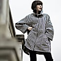 Striped Oversize Spring Coat image