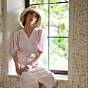 Bloom Crochet Hat In Off White image