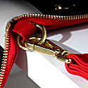 Champion Zip Around Leather Wallet In Red image