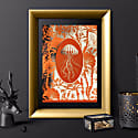 Elemental Jellyfish: Orange Gold Print image