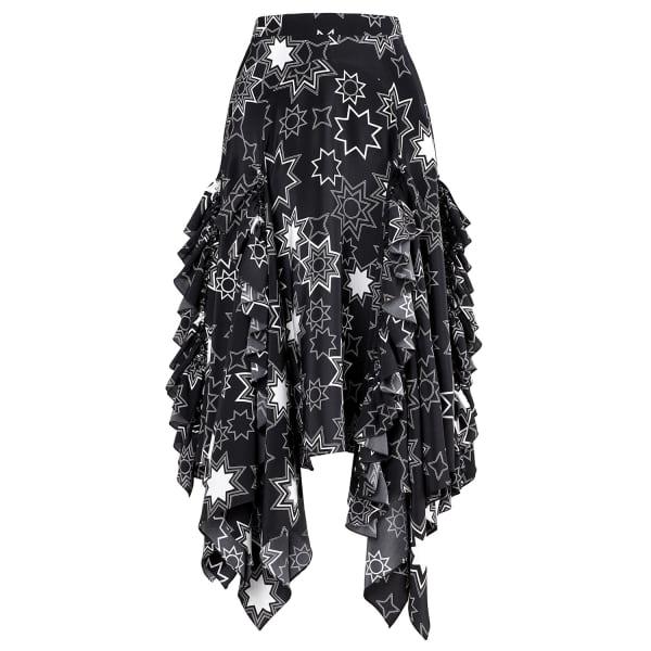 SIOBHAN MOLLOY Gracie Star Print Midi Skirt