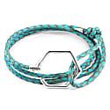 Turquoise Blue Storey Silver & Braided Leather Bracelet image