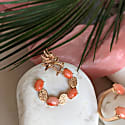 Dragon Lady Coral Hoop Earrings image